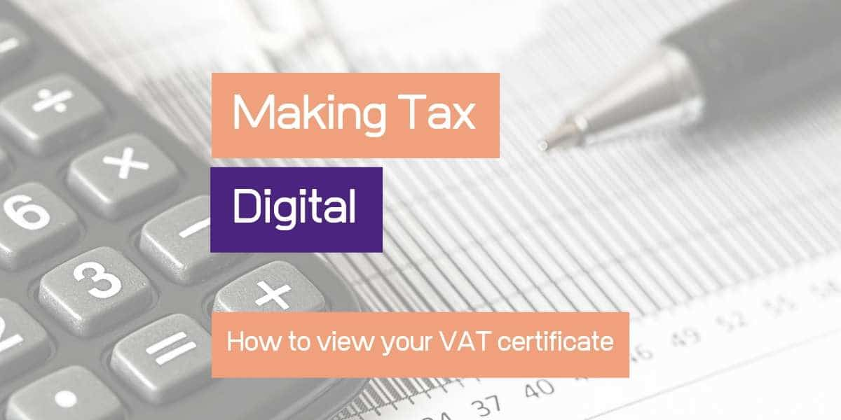 How to view your VAT certificate online