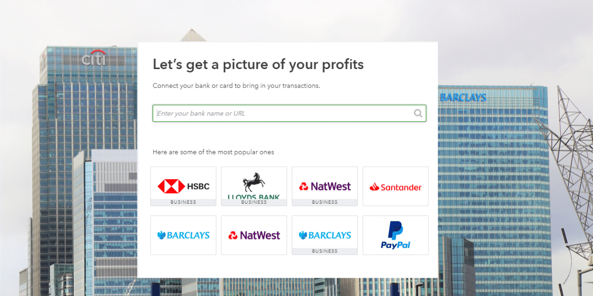 Which banks integrate wit Quickbooks
